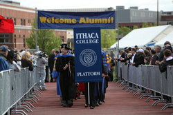 Welcome Alumni at Commencement