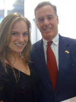 With Howard Dean