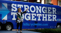 Hillary Clinton with her 2016 Slogan (Photo: REUTERS/Aaron P. Bernstein)