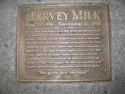 plaque outside Harvey Milk's camera store
