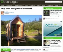 screenshot of mushroom house story on TreeHuggers blog
