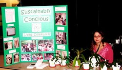 student at Sustainably Conscious table