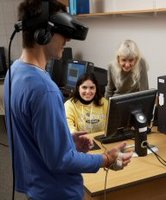 student researcher in VR