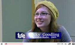 television-radio major Becky Goodling '09