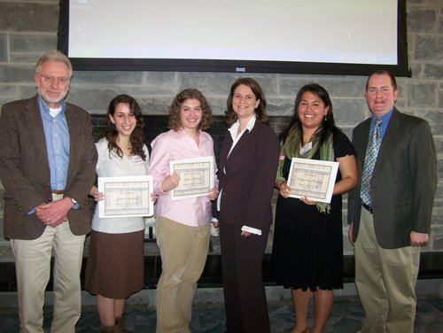 2008 student presenters and their faculty advisors