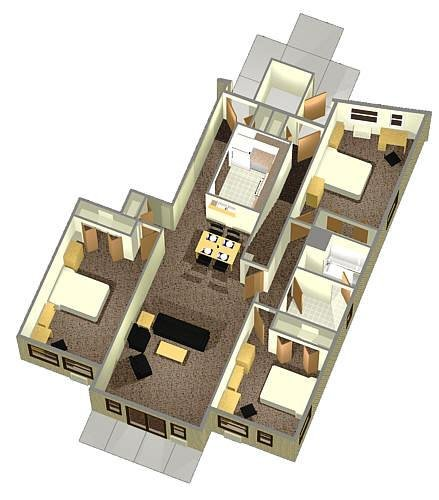 3-person 1st Floor Apartment Layout