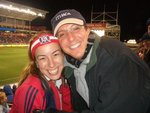 Alums at the Chicago Fire game