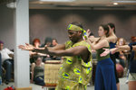 Biboti Ouikahilo teaching IC students African Dance