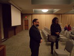 Chatting with Graduate student at ISU Feb. 2015