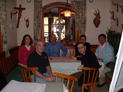 Team members: Barbara Rivera, Doug Walton, Gordon Rowland, Christian Fuchs, Urban Kordes, Yoshi Horiuchi