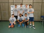 Fresh Meat team poses at Swish for Make-A-Wish on April 20 in the Fitness Center Mondo Gym on Ithaca College�s campus.