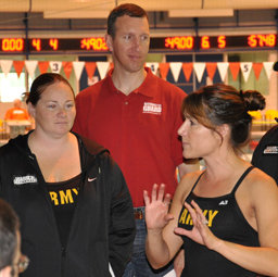 Holly Roselle M.S. '05 works with the Army swim team
