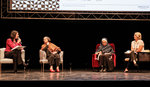 A picture of me being interviewed on stage in Milan.