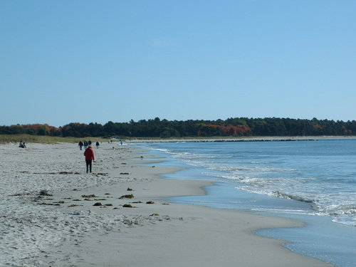 Maine beach south of Portland