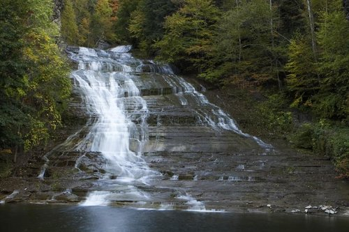 One of several area gorges, Buttermilk Falls is located near downtown Ithaca.