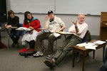 Professor Rick Kaufman and students in his The Good Life course.
