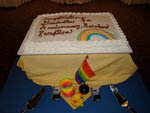The cake at the Rainbow Reception