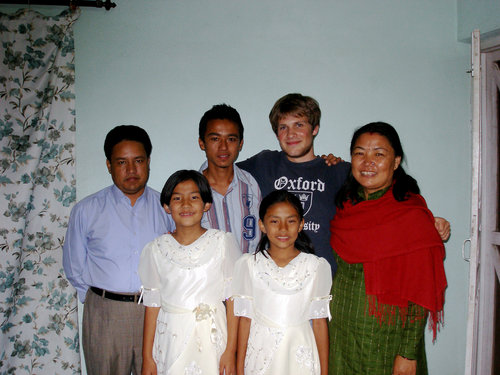 Ryan Mauk and Nepalese host family