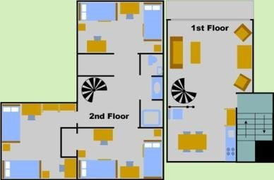 Six Person Garden Apartment Layout