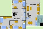 Six-Person Garden Apartment Layout