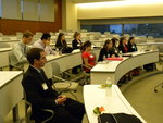 Students listen to their fellow classmates about their internship experiences