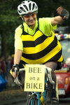 The Ithaca Festival parade's bee on a bike