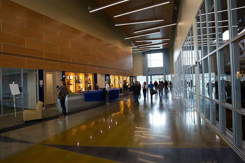 The main concourse in the A&E Center