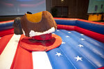 The mechanical bull at Urban Cowboy calmly waits to toss attendees.