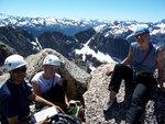 The three climbers enjoy the scenery