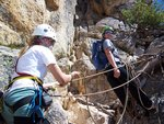 Practicing crevasse rescue