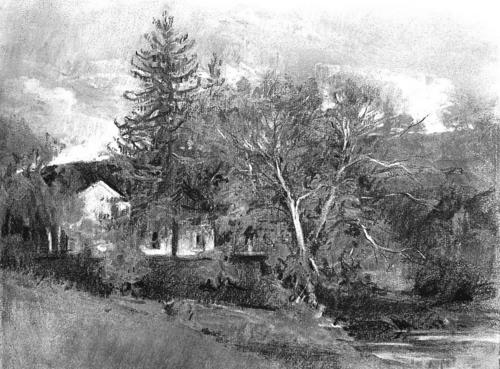 Gallery For gt Landscape Drawings Charcoal