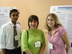 Kumar Yogeeswaran, Judith Pena-Shaff, and Keri Walczynski at their poster