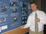 Prof. Rader's student at his poster