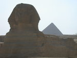Sphinx and Pyramid at Giza, Egypt