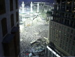 view from hotel window of pilgrims at the Hajj, 2006
