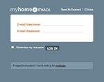 myHome Login Page Screenshot