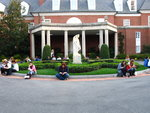 In front of the Hillwood Mansion