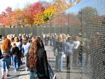 At the Vietnam War memorial
