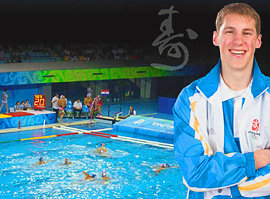 The author covered water polo for the Olympic News Service.