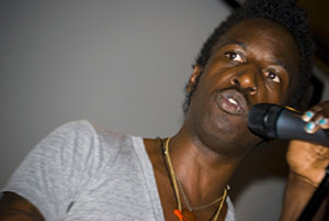 Spoken-word artist Saul Williams performs at IC.