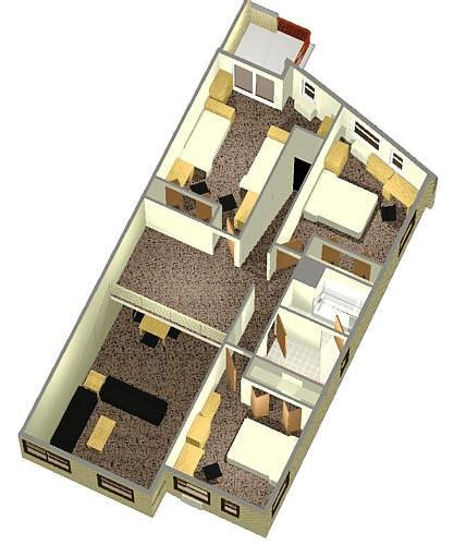6 Person Apartment Layout