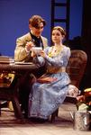 Will Pinchin as Algernon and Stephanie Roberts as Cecily in The Importance of Being Earnest