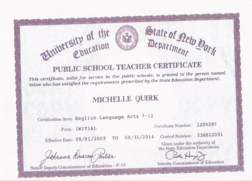 education certificate nj department education certificate