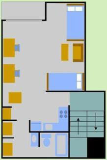 Two Person Garden Apartment Layout