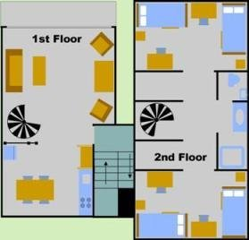 Four Person Garden Apartment Layout