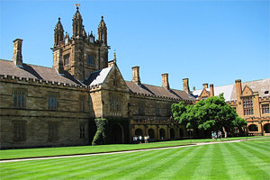 Like Hogwarts, only better: a view of the Main Quad at the University of Sydney