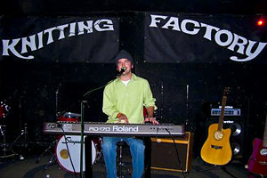 Ben Willmott performing at the Knitting Facory in New York City.
