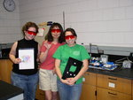 Kelly Sowers (Chemistry '09), Akiko Fillinger, and Nita Norasatheport (Master Teaching) with SHArK project in Summer 08