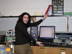 Ian Weiss (Chemistry '10) analyzing Cu2O films with potentiostat.