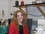 Krista Fieselmann (Biochem '10) measuring lead concentration in carrots using atomic absorption spectrophotometer.